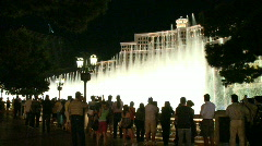 Tourists watch the Bellagio fountains (2 of 4) - stock footage
