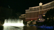 Stock Video Footage of Fountains at the Bellagio (2 of 2)