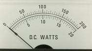 Power supply gauge Stock Footage