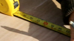 Tape Measure Stock Footage