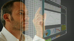 Virtual LCD panel - stock market Stock Footage