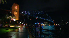 Sydney Harbour Bridge & Opera House - Night PT18 Stock Footage
