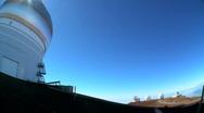 Astronomy Observatories on Big Island Stock Footage