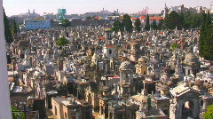 Recoleta Pan L-R City Ambience Stock Footage