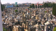 Stock Video Footage of Recoleta Pan L-R City Ambience