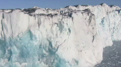 Glacier front - stock footage