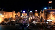 Square of independence in Kiev Stock Footage