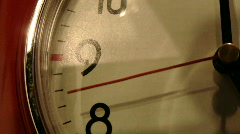 red clock close up - stock footage