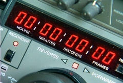Time Lapse - Betacam SP Counter Display Stock Footage