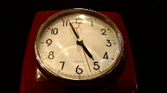 Tick tock red clock Stock Footage