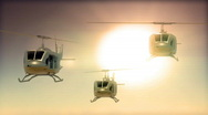 Stock Video Footage of 133 awesome helicopters bell huey sunset