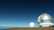Stock Video Footage of Space Observatory in Elevated Position
