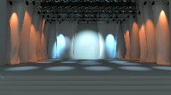 Empty stage animation Stock Footage
