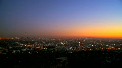 Los Angeles Sunset Time-lapse Stock Footage