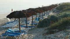 Beach Morning Stock Footage