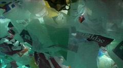 Plastic bags underwater 1 Stock Footage