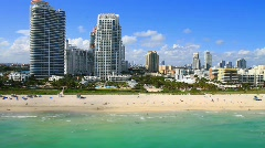 Miami Beach 5th Street & Ocean Stock Footage