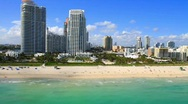Stock Video Footage of Miami Beach 5th Street & Ocean