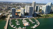 Condo Aerials Biscayne Boulevard Miami Florida Stock Footage