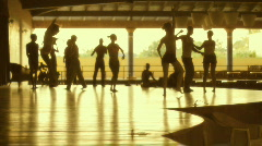 Cuban Resort Hotel Entertainment Dance Company Rehearse A Dance Routine Stock Footage