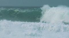Giant Crashing Wave Power 60FPS - stock footage