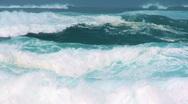 Powerful Crashing Waves 60 FPS Stock Footage