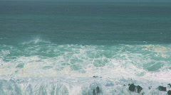 Giant Crashing Wave Power 60FPS Stock Footage