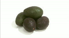 Stock Video Footage of avocado cut spin pull out