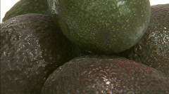 Avocado cut spin pull out Stock Footage