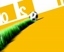 soccer generating gras - stock footage