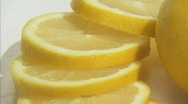 Stock Video Footage of lemon cut spin close2