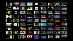 Multimedia technology distortion video screens information static television Stock Footage