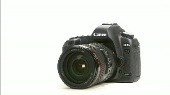 Canon camera 5Dmark2 spin Stock Footage