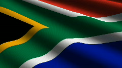 South Africa close up Flag - HD - looping Stock Footage