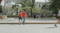 Red Shirts Stock Footage
