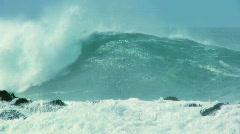 Crashing Waves on Rocks 60FPS Stock Footage