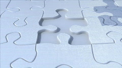 final puzzle piece - stock footage