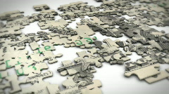 puzzle dollar note - stock footage
