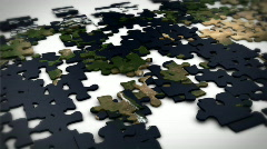 puzzle world map - stock footage