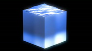 Stock Video Footage of water cube loop