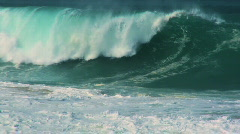 Powerful Surfing Waves 60FPS Stock Footage