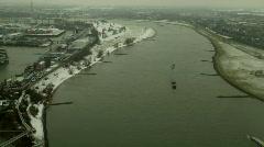 Aerial Dusseldorf timelapse 02 Stock Footage