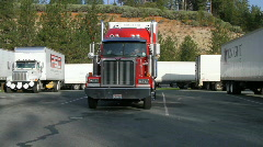 big rig  trucking - stock footage