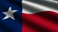 Texas Close up Flag - HD LOOP Stock Footage
