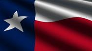 Texas Close up Flag - HD LOOP Stock Footage