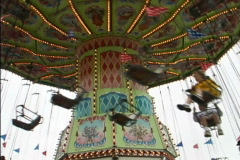 Chair Ride at State Fair Stock Footage
