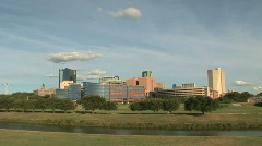 Clouds Roll Across Downtown Ft. Worth,Texas - stock footage