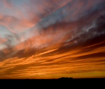 West TX Sunset (slow pull out) - stock footage