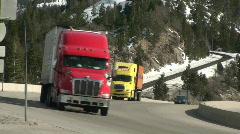 Stock Video Footage of big rigs speeding