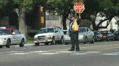 Traffic Cop Stock Footage